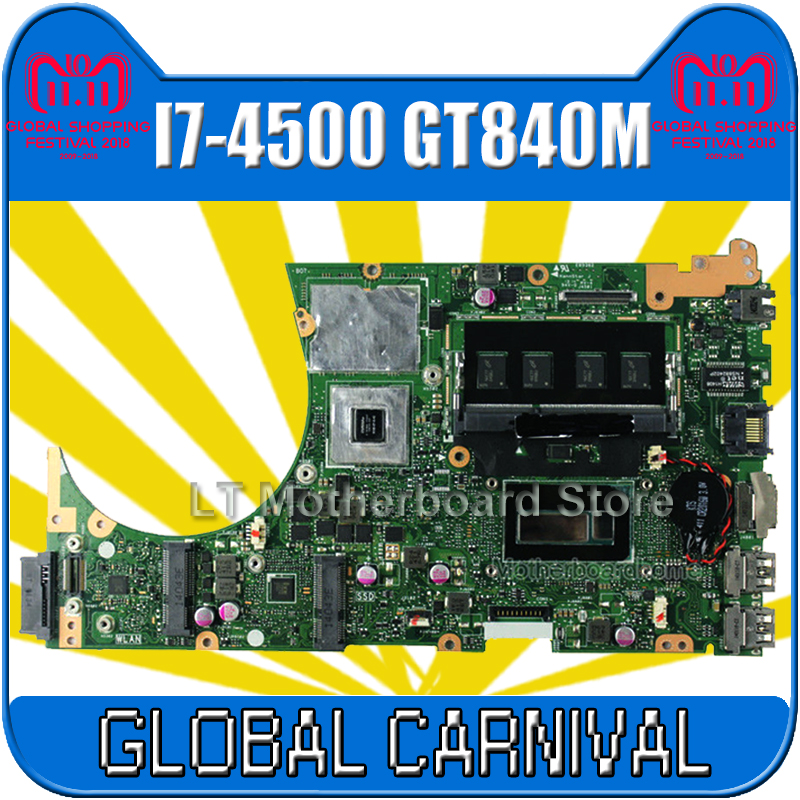 S551LN Motherboard 4G RAM I7-4500 GT840M For ASUS S551LB S551L R553L S551 Laptop motherboard S551LN mainboard S551LN motherboard for asus s551lb s551ln s551la r553l mainboard motherboard non integrated gt840m 2gb n15s gt s a2 with i7 4500 cpu sr16z tested
