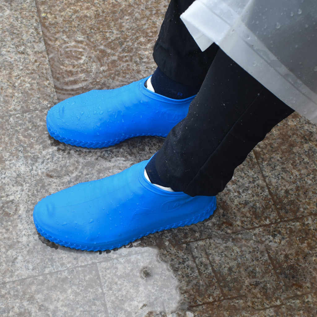 2019 Environmentally friendly household products Reusable Rain Gear Boots Snow Shoe Covers Waterproof Shoes Overshoes S code