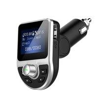 Lcav bt39 블루투스 mp3 플레이어 fm 송신기 차량용 충전기 듀얼 usb 배터리 전압 모니터 핸드폰 handfree