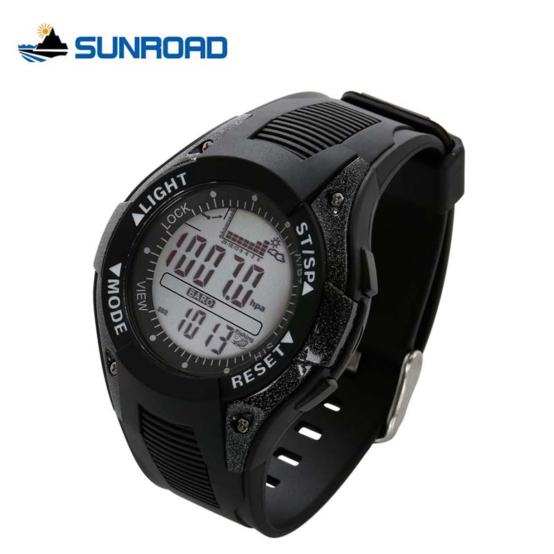 SUNROAD Digital Fishing Watch Men Barometer Altimeter Thermometer Weather Forecast Top Luxury Brand Backlight Waterproof Relogio sunroad fx712b digital fishing barometer watch w altimeter thermometer weather forecast time