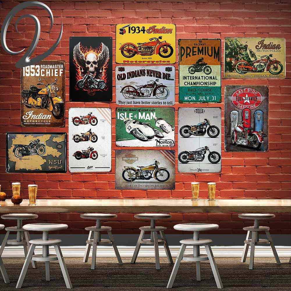 Detail Feedback Questions About Indian Motorcycle Metal Poster Wall
