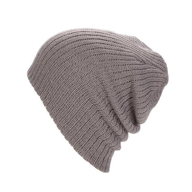 b99c9f5d 2018 Winter Hats Unisex Cotton Solid Color Warm Hot Sale HIP HOP Knitted  Hat Men Women
