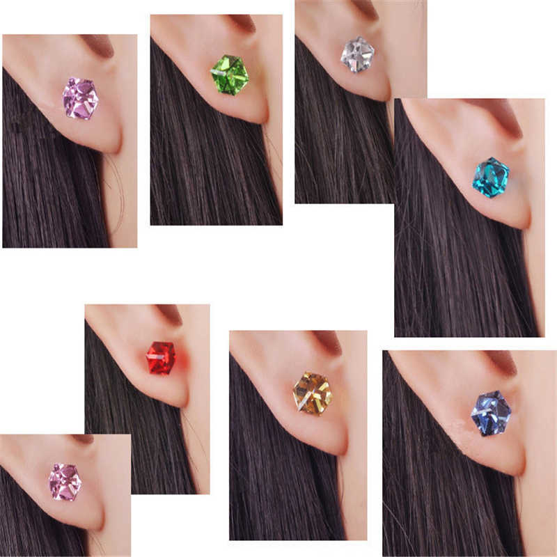Sale 1Pair 3 Colors Options  Allergy Free  Crystal Stud Earrings for women and girl gift.
