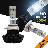 Yeslight H1 H3 H4 H7 H11 9005 HB3 9012 9006 HB4 50W 8000LM G7 LED Headlight