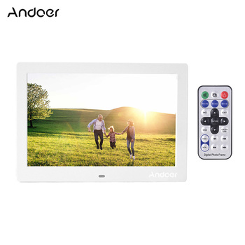 Andoer 10 Inch Digital Photo Frame IPS Full-View Screen Eletronic Photo Album High Resolution 1280*800 with Remote Control