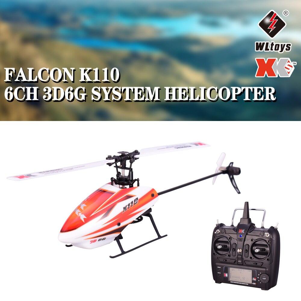 Oyuncaklar ve Hobi Ürünleri'ten RC Helikopterler'de Wltoys XK K110 6CH 3D 6G Sistemi Uzaktan Kumanda fırçasız motor RC Helikopter oyuncak Verici FUTABA Ile Uyumlu S FHSS'da  Grup 1