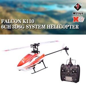 Image 1 - Wltoys XK K110 6CH 3D 6G di Controllo Remoto Sistema di Motore Brushless RC Elicottero giocattolo Con Trasmettitore Compatibile Con FUTABA s FHSS