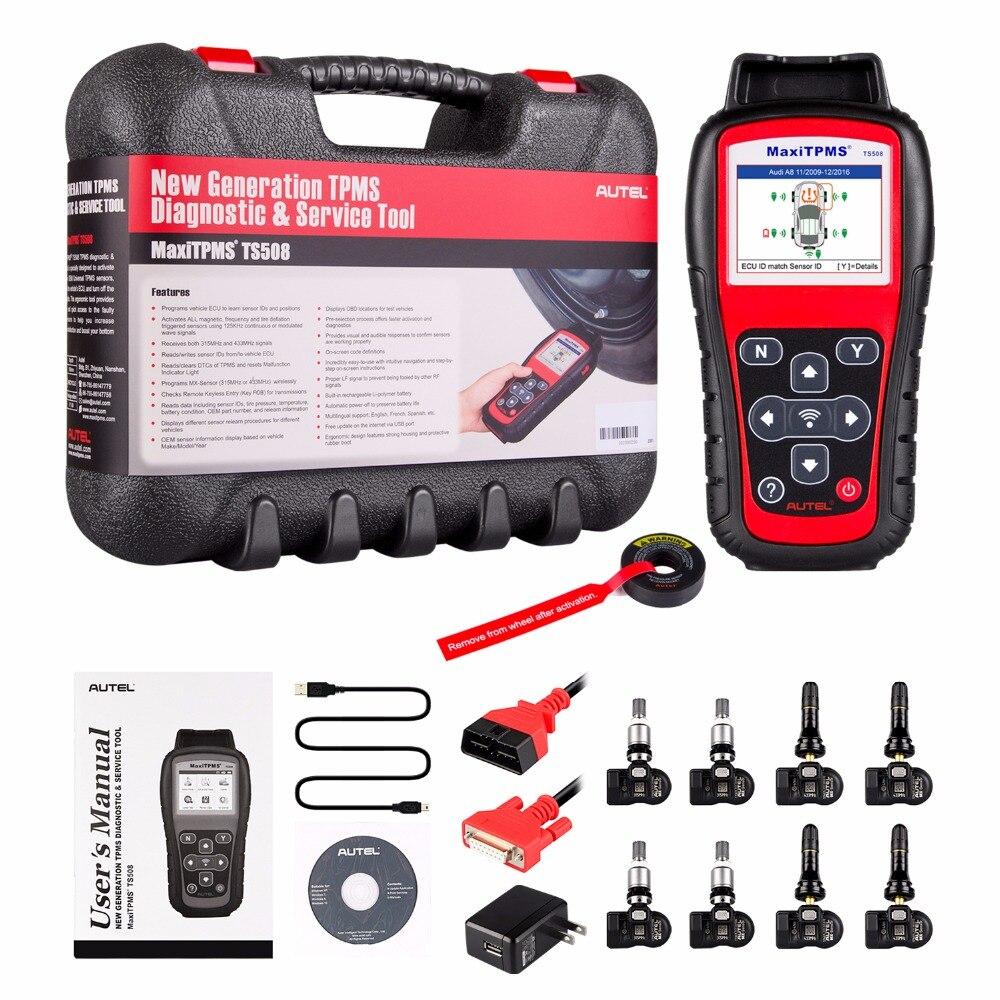 Autel MaxiTPMS TS508k TPMS Strumento Diagnostico, Controllare TPMS Sistema di Condizione di Salute, programma MX-sensori e la Condotta di TPMS Imparare di Nuovo