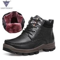 WEST SCARP Brand Men S Boots Winter Shoes Men Top Quality100 Genuine Leather Shoes Plush Warm