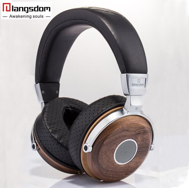 лучшая цена Langsdom FA890 Natural Wooden PUBG Headphone Hifi stereo Earphone Soft Leather Noise Isolation Headset with Mic for PC Music