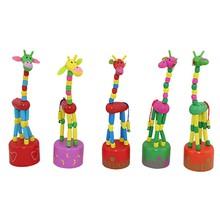 New Wooden Developmental Kids Giraffe Toy Children Dancing Standing Rocking Handcrafted Toy