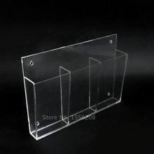 Прозрачная акриловая настенная коробка для хранения держатель