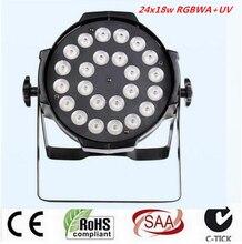 24x18W LED Par Lights lamp rgbwa uv 6in1 led par light for dj dmx dj light
