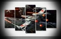 2017 begrenzte Gemälde Star Wars Weltraum Spaceshipsposter Druck Auf Leinwand Galerie Wrap Gerahmten Fertigen Kunst Wand-Handmade