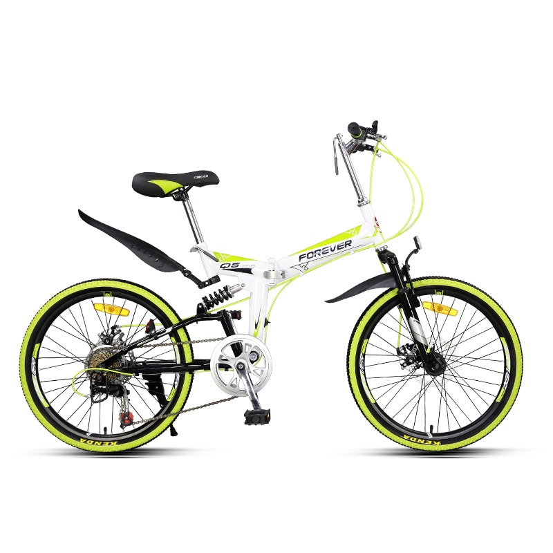 Folding Mountain Bike Students And Adolescents Cross Country  Men And Women Variable Speed Double Shock Absorption Disc Brake