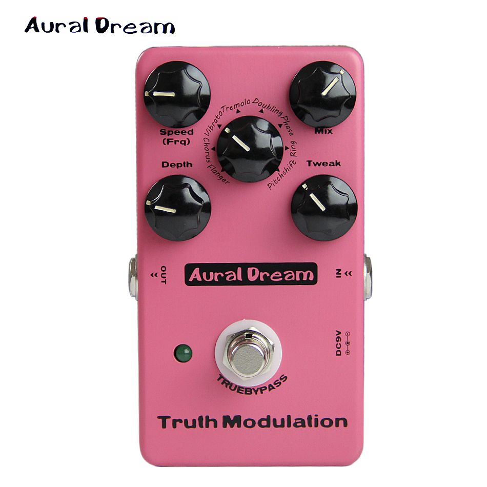 Aural Dream 8 Mode MOD Flanger Chorus Vibrato Tremolo Doubling Phase Ring Pitchshift digital MOD Guitar effect Pedal Post rock aural dream super flanger digital pedal with 18 flanger effects guitar pedal