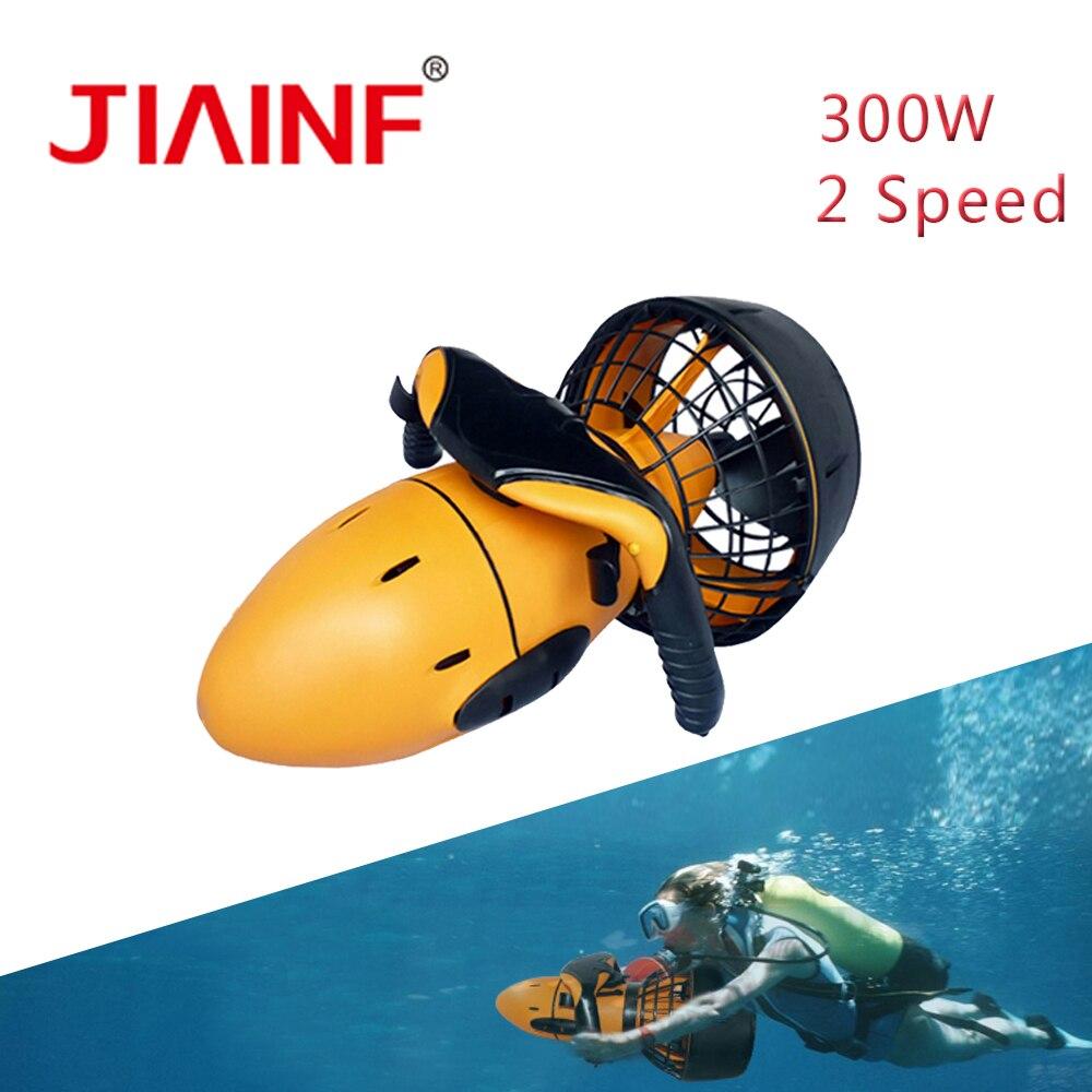2019 nouveau Scooter de mer 300 W sous-marin double vitesse hélice à eau sous-marine équipement de Scooter de plongée pour livraison directe en plein air