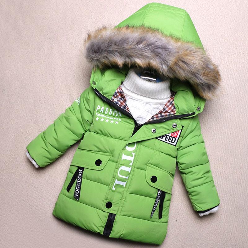 56c00a640ffe Child Baby Boy Hooded Jackets Winter Thick Warm Down Coats Newborns ...