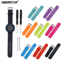 ФОТО  Silicone Watch Bands Strap for Garmin erunner 220 230 235 630 620 735XT Watch With Pins  Tools