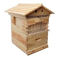 Wooden Bee Beehive Box With 7 Beehive Frames Beekeeping Tools Honey Self Flowing Bee Hive Supplies