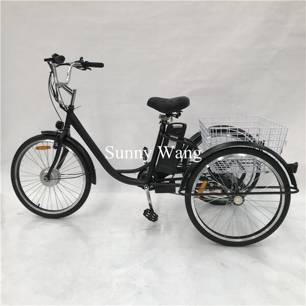 Регулируемая скорость 45 кг Электрический неэлектрический мини открытый трехколесный велосипед еда тележка велосипед