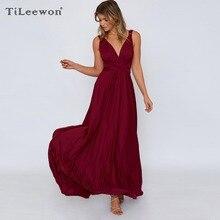 2019 New Summer Women Sexy Bandage Sling Personality Casual Elegant Dress Plus Size Vestidos Long High Quality Vintage Jurkjes