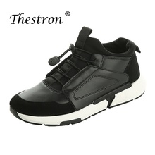 Thestron Mens Shoes Casual Sneakers Red Black Outside Footwear Leather Men Walking Designer 2018 New Luxury Brand
