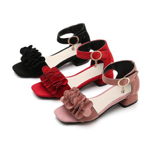 Children Sandals Flat-Shoes Girls Gladiator Kids New for Pearl Beading Pink Roman 27-38