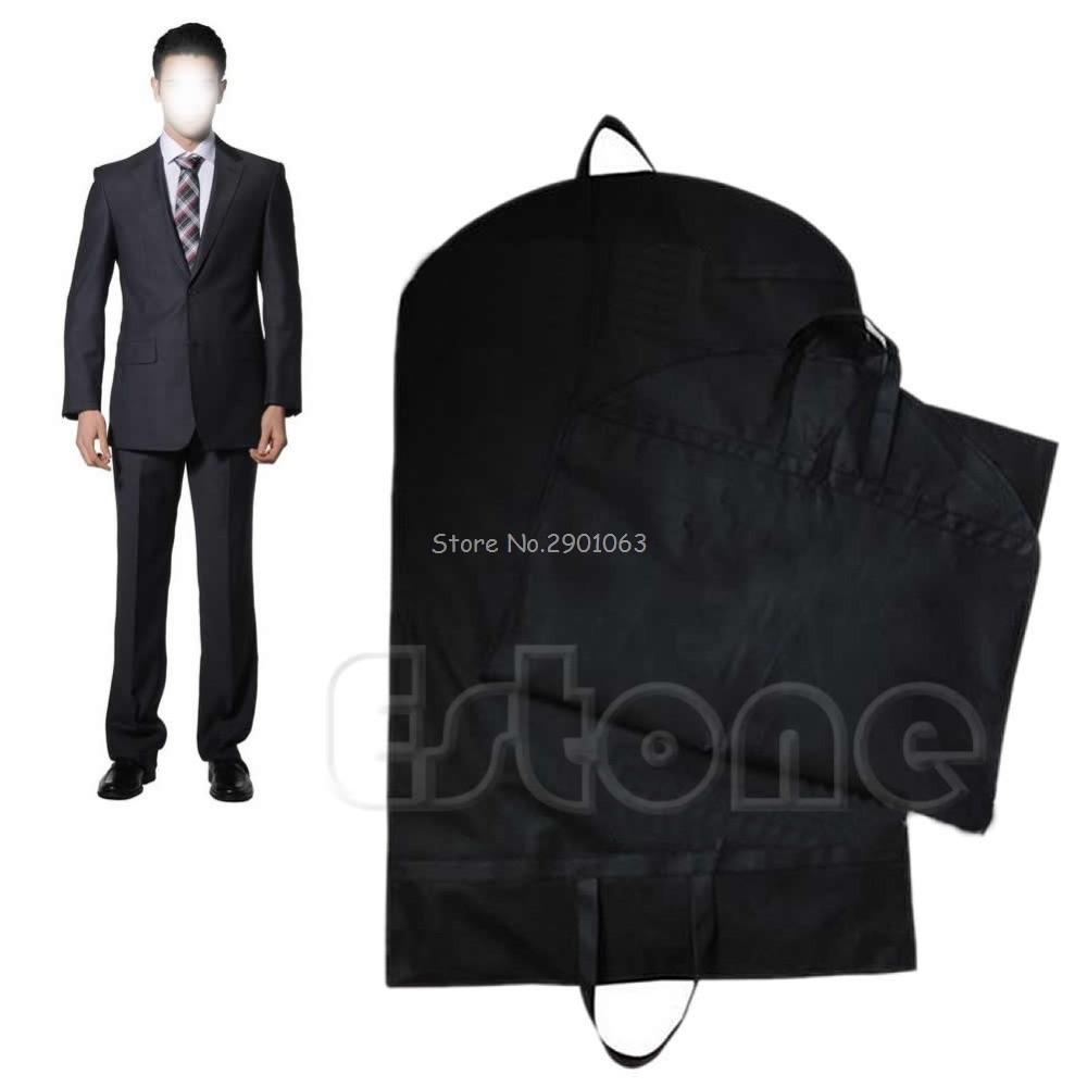 Black Dustproof Hanger Coat Clothes Garment Suit Cover Storage Bags,clothes storage,almacenamiento,Case for clothes