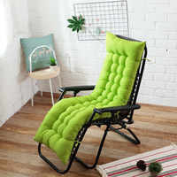 Long cushion Recliner chair Cushion Thicken Foldable Rocking Chair Cushion long Chair Couch Seat Cushion Pads Garden Lounger mat