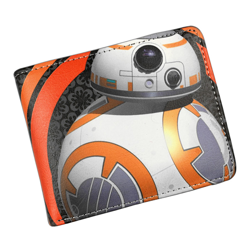 Star Wars Purse Leather Animation Wallets Super Hero Movie Anime Comics Card Holder Bags Star War Short Wallet 4.5*3.5 inch new arrival anime comics wallet star wars assassins dragon ball joker wonder women high quality short men wallet card holder