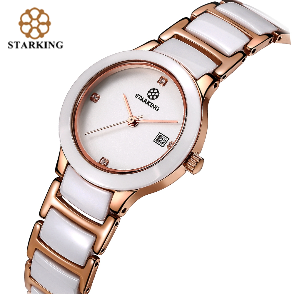 STARKING Elegante Keramische Jurk Dameshorloges Japan Invoer Quartz - Dameshorloges