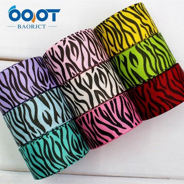 Ooot baorjct 17408225mm zebra pattern printed grosgrain ribbondiy ooot baorjct 17408225mm zebra pattern printed grosgrain ribbondiy handmadewedding decoration junglespirit Gallery