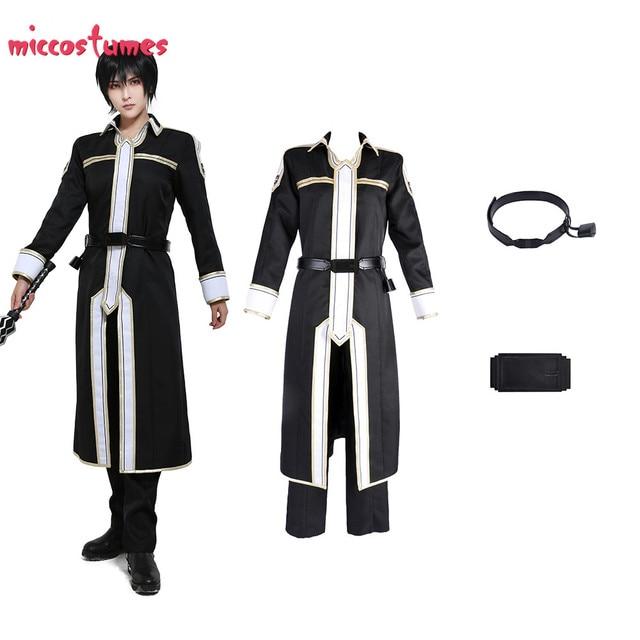 Sword Art disfraz para Cosplay de Kirito para hombre, uniforme de Halloween