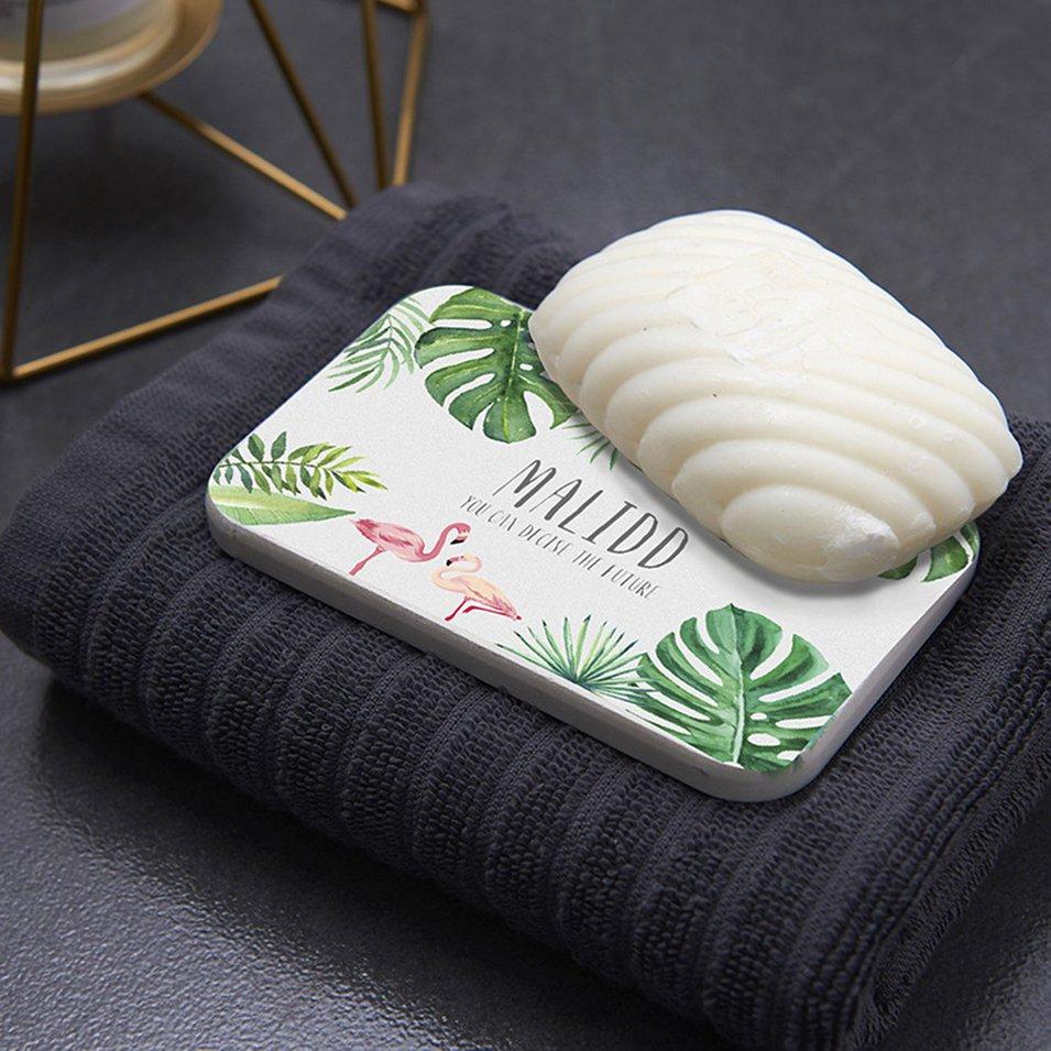 Creative Fashion Print Diatomite Soap Holder Pad Drink