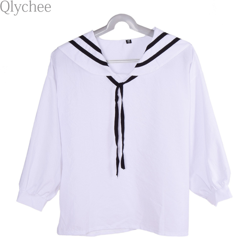 Qlychee Harajuku Sailor Blouse font b Anime b font font b Cosplay b font Costume Long