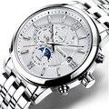 Zwitserland Horloge Mannen Nesun Luxe Merk Mannen Horloges Automatische Mechanische Saffier Maanfase Horloge Lichtgevende Waterdichte N9027-6