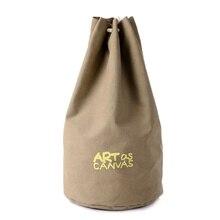 6048c8c38a Canvas Drawstring Sports Bucket Bags Basketball Storage Backpack Women  Fitness Men Outdoor Training Teenager Bag XA456WD