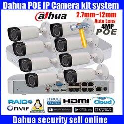 Oryginalny angielski Dahua 8CH 1080P POE NVR4116-8P zestaw z 4MP kamera IP IPC-HFW4431R-Z 2.8-12mm bullet kamery monitoringu CCTV System