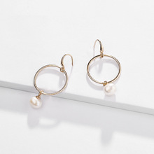 Joolim Jewelry Wholesale Antique Gold Freshwater Pearl Drop Earring Dangle