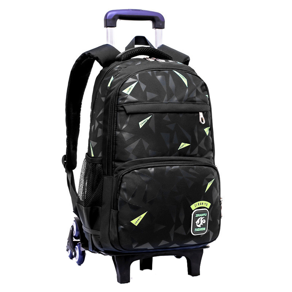 Fashion Kids Wheels Removable Trolley Backpack Wheeled Bags Children School Bag Boys Travel Bags Children s