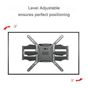Image 5 - Наклонно поворотный настенный кронштейн для ЖК, LED ТВ 32 60 дюймов, выдвижная стойка для телевизора, настенное крепление для ЖК ТВ с 6 поворотными рычагами, MAX VESA 400x400 мм