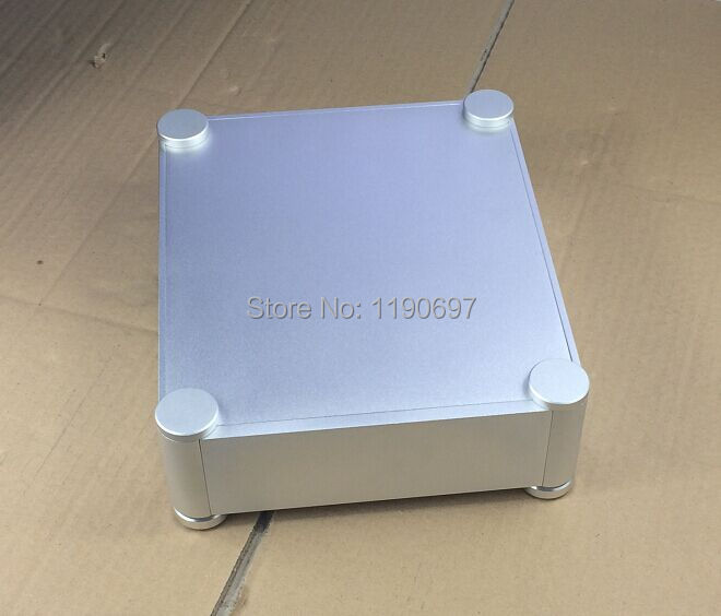 All Aluminum Chassis Aluminum Fillet Front  DAC Amp Chassis 1Piece 3206 amplifier aluminum rounded chassis preamplifier dac amp case decoder tube amp enclosure box 320 76 250mm