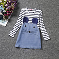 Winter Autumn Dress For Baby Girls Kids Party Wear Mouse Pattern Dress Children's Girl Clothing School Denim Dresses For Girl