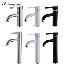 цена на Basin Faucets Single Handle Deck Mounted Washbasin Taps Vessel Sink Mixer Faucet Single Hole Water Taps Bathroom Torneira WB1065