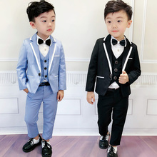 Flower Boys Graduation Tuxedo Suit for Wedding Kids Birthday Dress Blaz