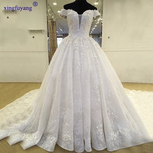 Vestido De Noiva 2017 Vintage Lace Ball Gown Wedding Dresses Cap Sleeve Appliques Back China Bridal Gowns Vestido de Casamento