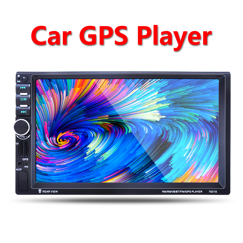2 Din Car GPS navigation Player 7'' HD Bluetooth Stereo Radio FM MP3 MP5 Audio Video USB Auto Electronics autoradio car-charger