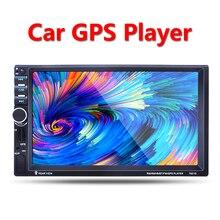 """2 Din GPS Del Coche Jugador de la navegación de 7 """"HD auriculares Bluetooth Estéreo Radio FM MP3 MP5 Audio Video USB Electrónica de Automóviles autoradio cargador de coche"""