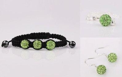 Earring Bracelet Jewelry Gift Crystal New Fasion Women Disco-Ball-Beads-Set Style. Rfdwws